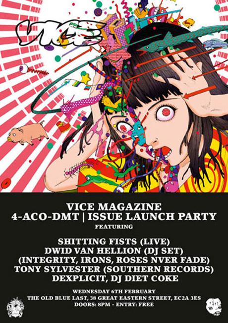 Shtting Fists live at Vice issue launch party