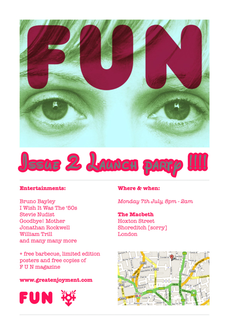 FUN Magazine Issue 2 launch party