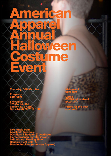 American Apparel Halloween Party 30th