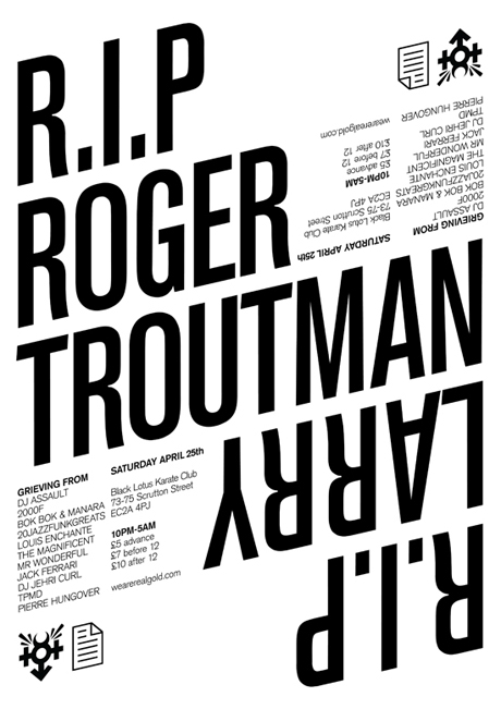 RGEVENT0010 // RIP Roger / Larry Troutman