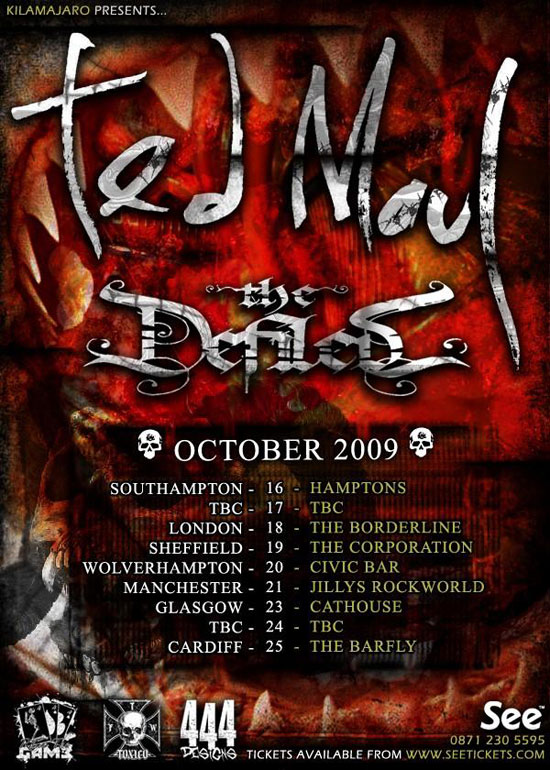 Ted Maul October Tour