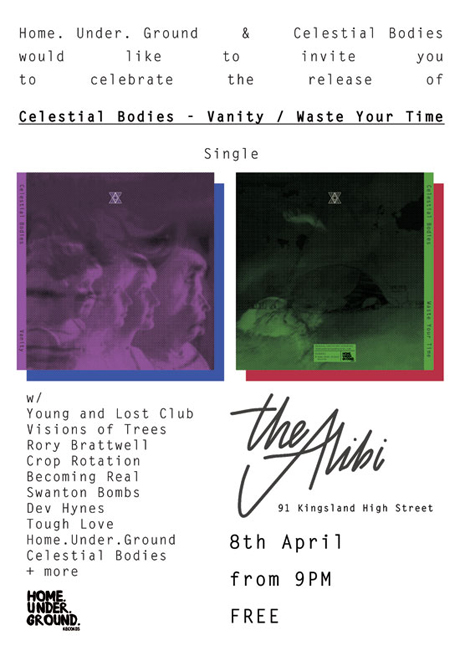 Celestial Bodies single launch party