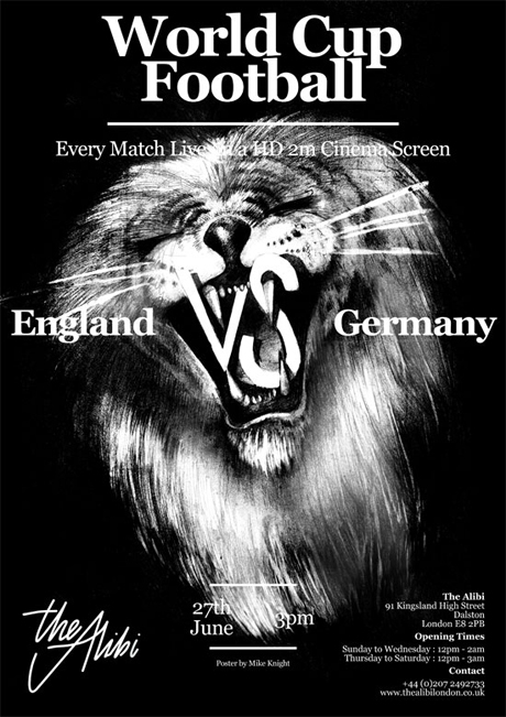 England vs Germany at The Alibi