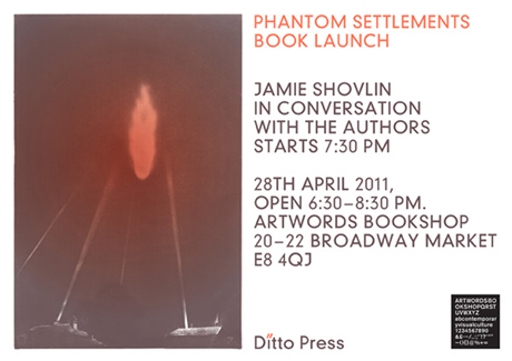 Ditto Press launch 'Phantom Settlements' by Catrin Morgan