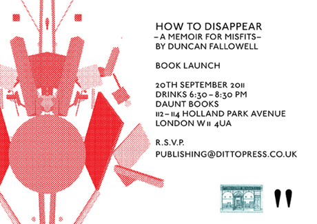 Ditto Press launch 'How To Disappear'