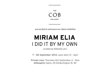 Miriam Elia presents 'I Did It By My Own'