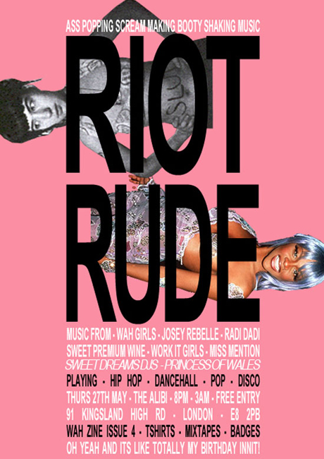 WAH presents Riot / Rude