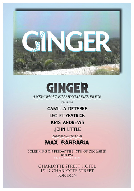 'Ginger' by Gabriel Price London Screening