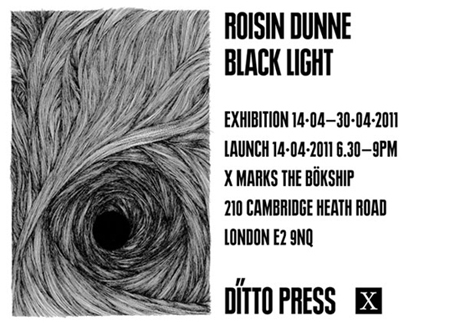 Ditto Press launch 'Black Light' by Roisin Dunne