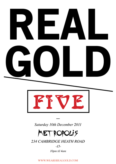 RGEVENT0019 // Real Gold Is Five