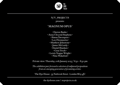N/V_PROJECTS presents Magnum Opus